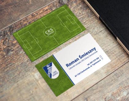 Seria wizytówek dla CKS Zdrój