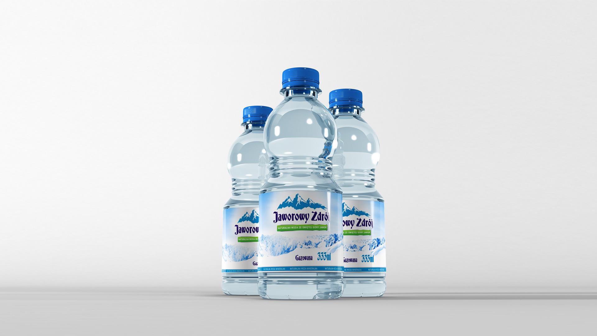 Koncepcja nowej butelki Wody Minerlanej
